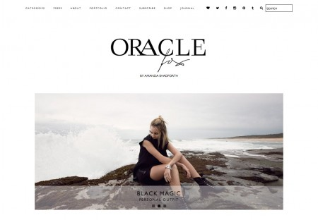 Oracle Fox - Fashion blog Wordpress Theme designed by ...Oracle Fox ...