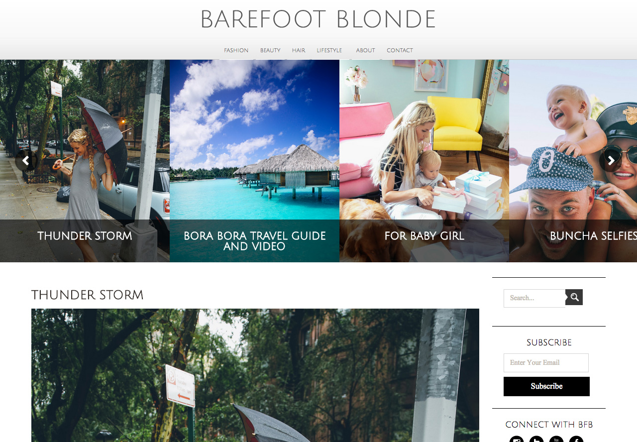 Barefoot blonde fashion blog wordpress theme designed by for Barefoot blonde
