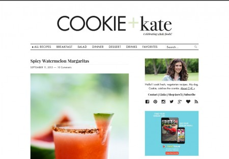 Cookie and Kate - Food blog Wordpress Theme designed by ...Cookie and ...