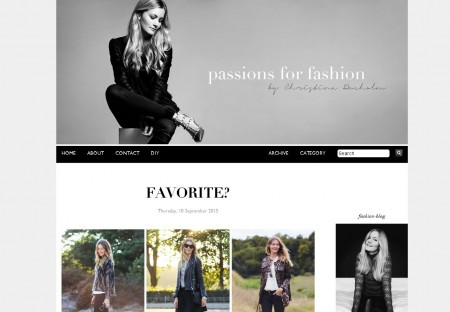 Passions for fashion